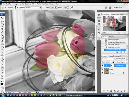 tutorial photoshop: maschere di livello, immagini in bianco e nero
