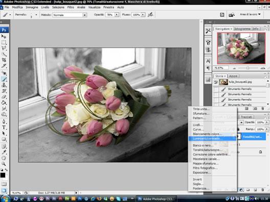 tutorial photoshop: aggiungere luminosità e contrasto