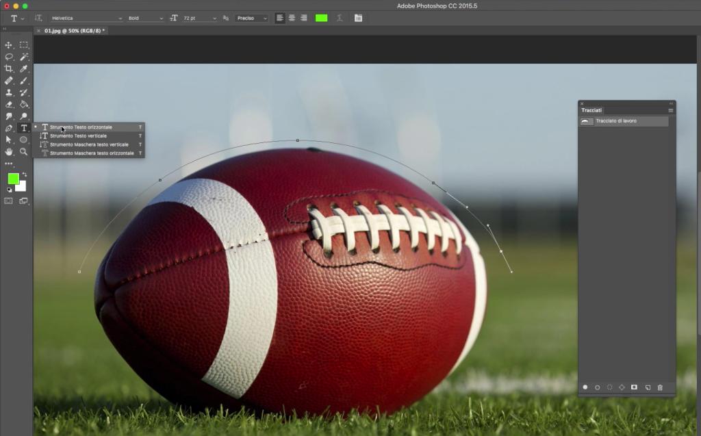 tracciati photoshop rugby
