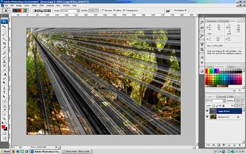 Photoshop - riflesso a stella su punto luce - tutorial itali