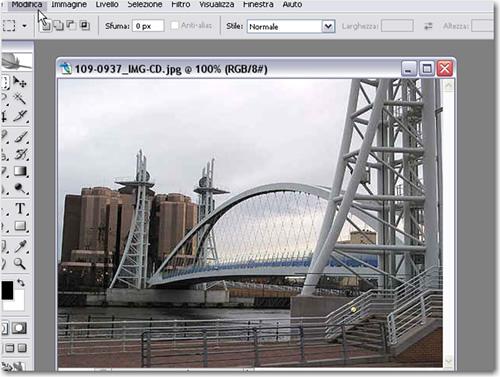 Immagine sul livello di Sfondo di Photoshop