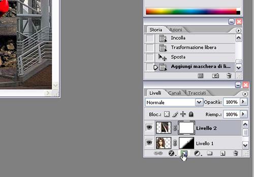 applica maschera di livello in Photoshop