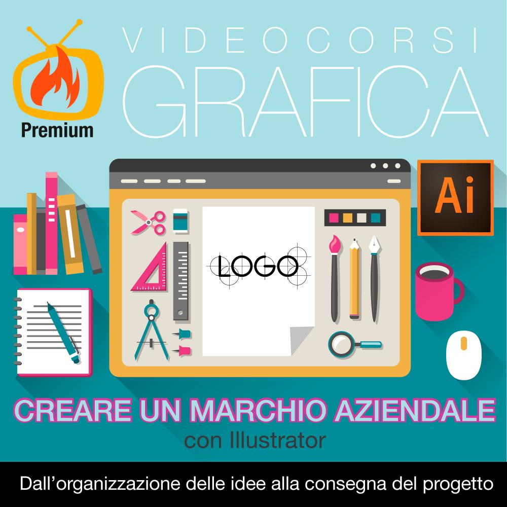 marchio aziendale con Illustrator