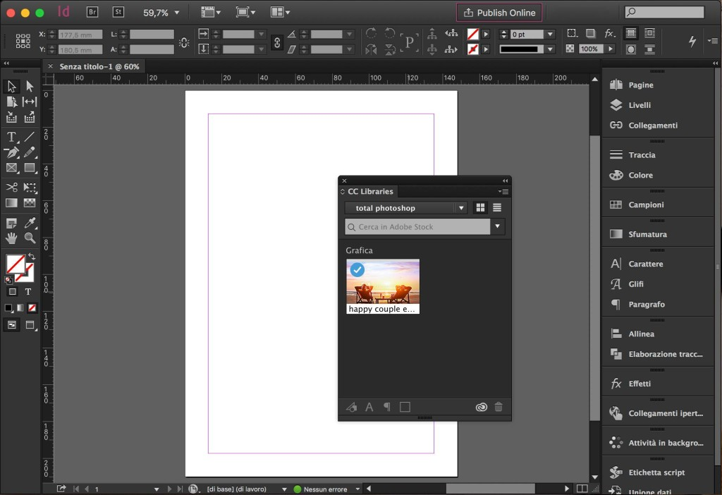 Adobe stock per indesign total photoshop for Stock indesign