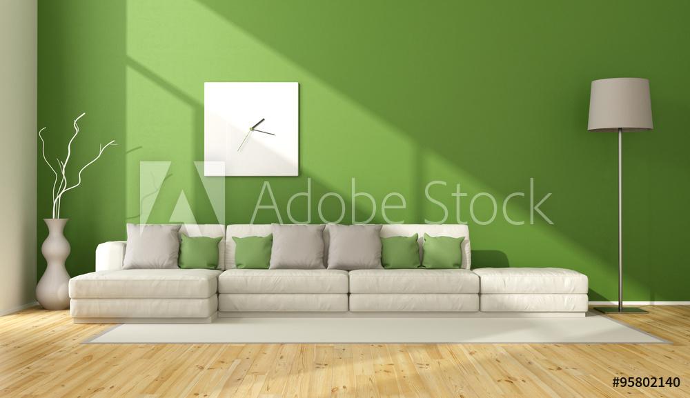 greenery arredamento verde divano