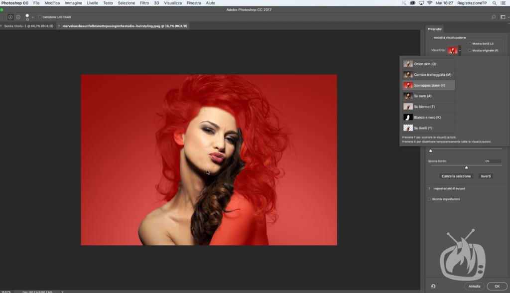 photoshop scontorno capelli