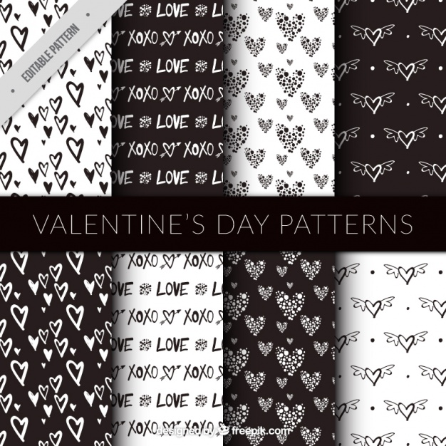 -cuori san valentino pattern
