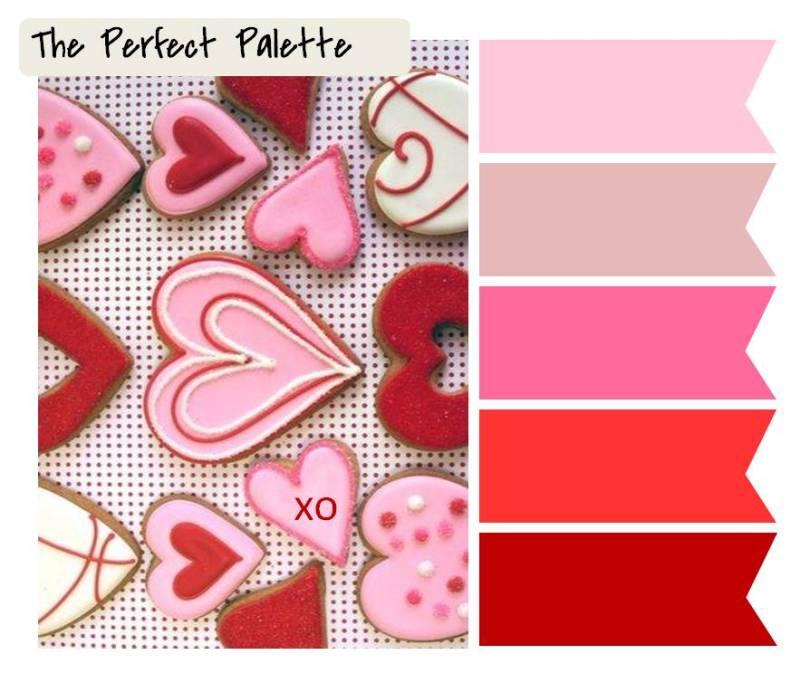 palette colori san valentino