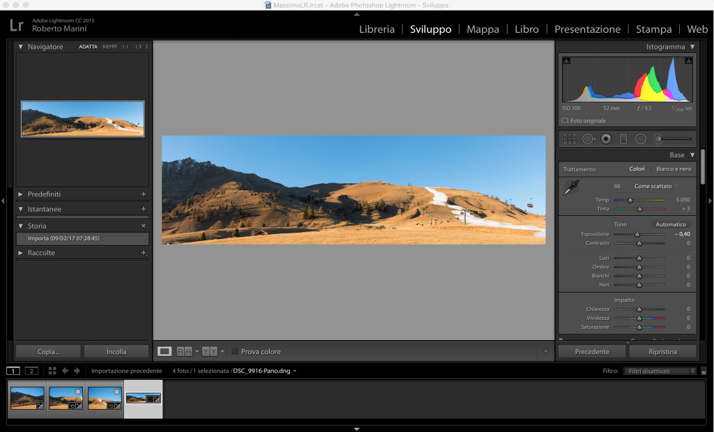 lightroom panorma